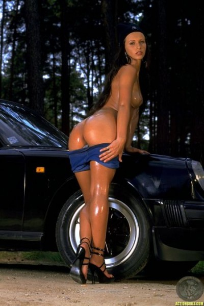 Actiongirls. Susana Spears Black Car