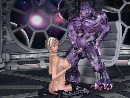 Comics porno Sasha & Violet Creature