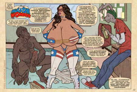 Comics art Superheroine. Part 1
