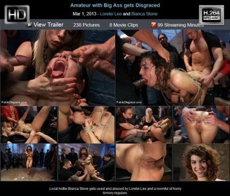 Amateur with Big Ass gets Disgraced / �������� ������� ���� (2013) HDRip