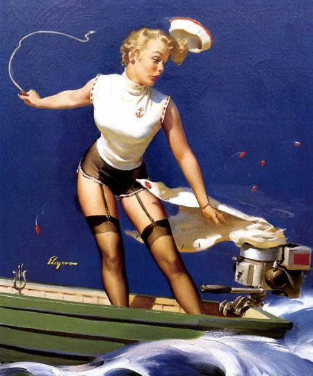 Pin-up art Gil Elvgren