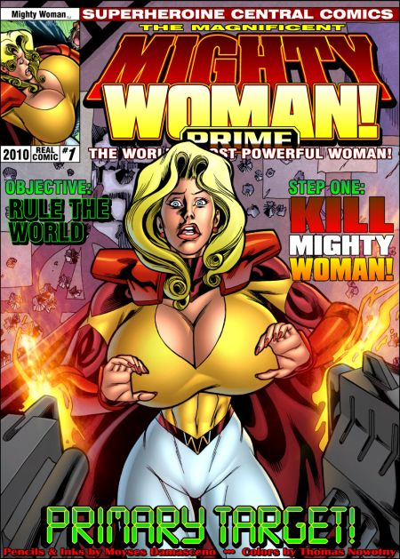 Comics art Superheroine. Part 8